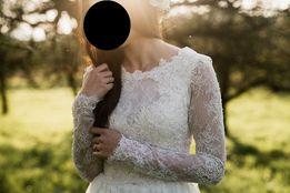 Suknia ślubna rustykalna projekt Joanna Niemiec
