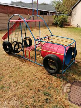 Kiddies Jungle Gym (Car Shaped with Tyres)