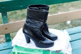 Сапоги *GRAND* чёрные кожаные, в родной коробке