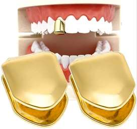 Removable GOLD & Silver Tooth Caps