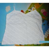 Льняная майка от Marks&Spencer 12 р. белоснежная + подарок