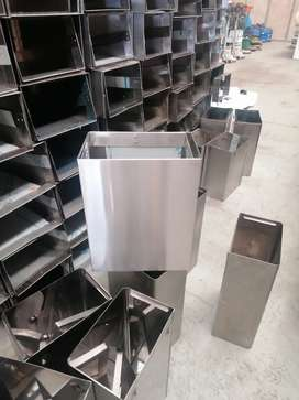 Stainless Steel wast wall bins