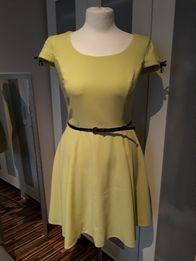 Limonkowa, letnia sukienka w rozm. 38