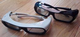 Okulary Sony 3D TDG-BR250 2 sztuki, czarne i białe + kabel USB