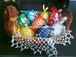 Koszulki na jajka pisanki szydełko ręcznie robione handmade