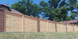 Забор бетонний від виробника