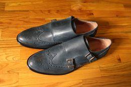 Очень крутые итальянские Дабл Монки на кожаной подошве Оригинал туфли