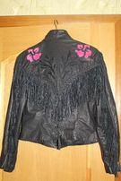 Супер куртка, байкерская кожаная женская, производство США (Даллас)
