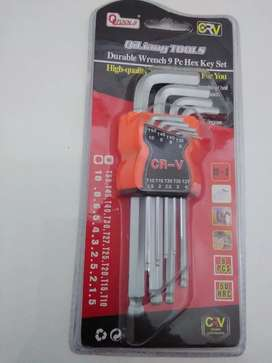 Durable  Wrench  9 Piece Hex Key Set