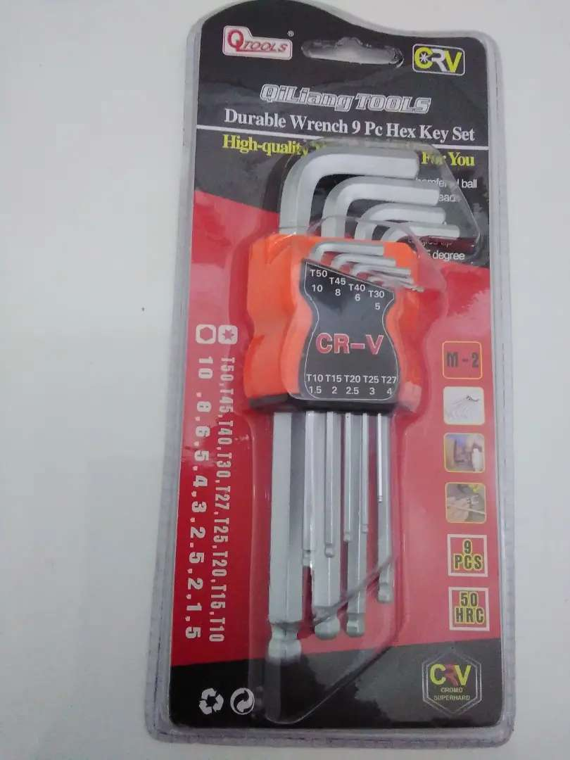 Durable  Wrench  9 Piece Hex Key Set 0