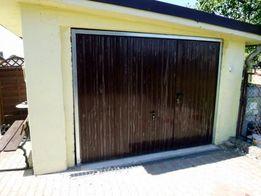 Brama Uchylna Garażowa ZŁOTY DĄB orzech Bramy Garażowe PRODUCENT