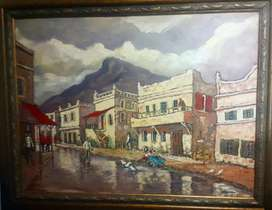 "Art Nic van Rensburg oil  ""District Six Cape"""