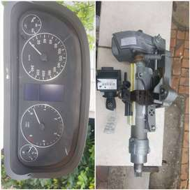Steering column, key and ignition and Speedo cluster