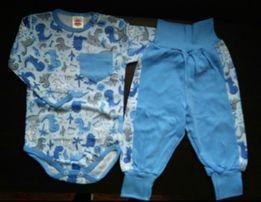 Zestaw dla chłopca 74 body spodnie chłopiec bawełna