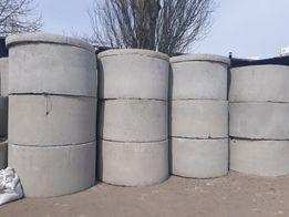 Канализационные бетонные кольца.
