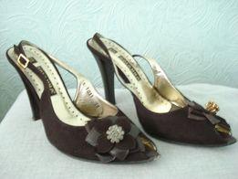 Женские летние туфли с открытой пяточкой