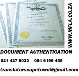 Authentication Services of all documents Cape Town