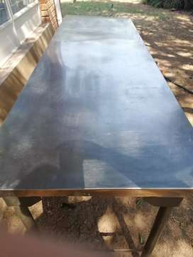 2.3m stainless steel table