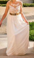Suknia ślubna dla wysokiej 38