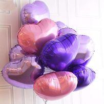 Шары фольгированные сердечки шарики из фольги сердце 45 см кульки
