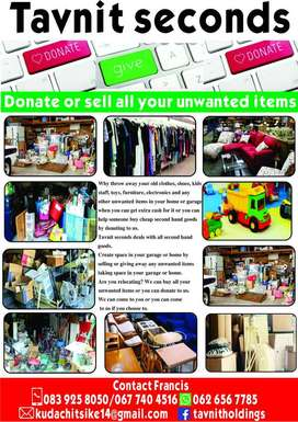 Donate or sell all your unwanted items