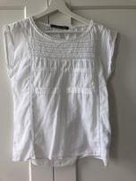 Biała bluzka bez rękawów ZARA
