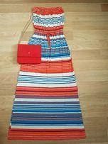 Kolorowa sukienka maxi, rozmiar S