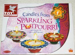 Zestaw ozdobne świeczki zdobione brokatem TOY KRAFT 8+