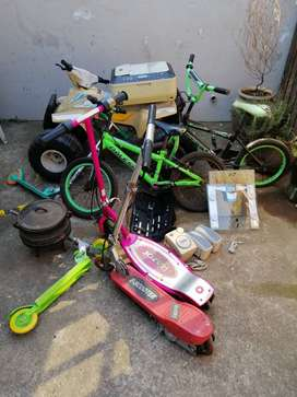Bikes, scooters, battery operated quad