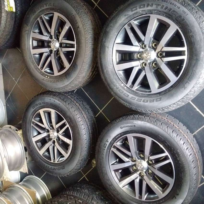 "A set of 18"" Toyota hilux/fortuner mag rims with brand new 265/60/18"