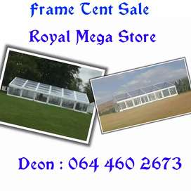 Clear frame tents sale