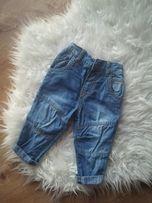 Spodnie jeans rurki + body 62-68