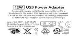 Apple 12W USB Power Adapter + Apple Lightning to USB Cable