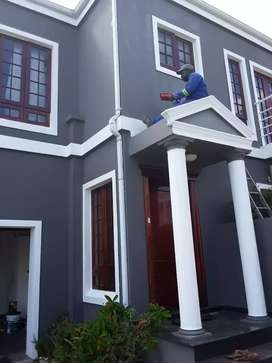 We offer painting and damproofing on walls