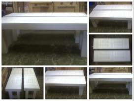 Patio bench Farmhouse series 1350 - White stained