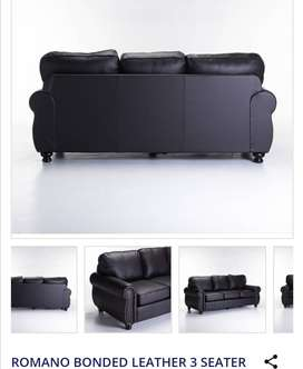 Bonded leather 3 seater