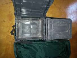 Camping crates in canvas bag
