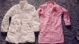 Płaszcz midi kurtka bomberka khaki flauszowy narzutka l xl