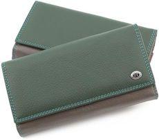 Женский кошелек из натуральной кожи с блоком для карт ST Leather.