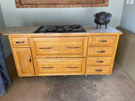 4 plate stove with cupboard