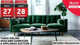 Timed Online High End Furniture & Appliance Auction