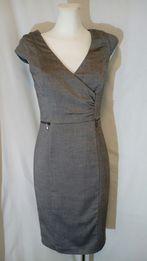 Sukienka olowkowa 34 XS szara brązowa orsay zamki