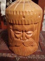 Деревянная подарочная резная баночка