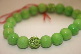 Bransoletka MoMo Design Idealny Prezent Walentynki Zielony Jadeit