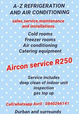 Aircon and refrigeration services