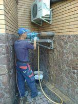 Сверление отверстий. Резка стен Алмазное сверление Демонтажные работы