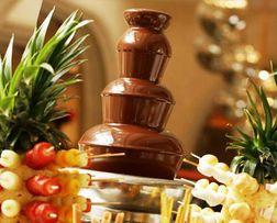 Шоколадный фонтан аренда прокат и фуршетные карвинг композиции