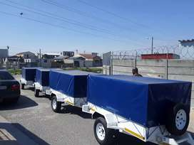 Trailers for hire in Delft.