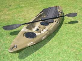 Pioneer Kayak Single incl. seat, paddle, paddle leash and rod holder.