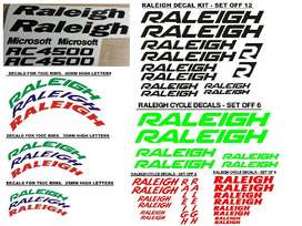 Raleigh bicycle frame and wheel rim decals stickers vinyl cut graphics